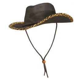 Sombrero vaquero simil piel leopardo