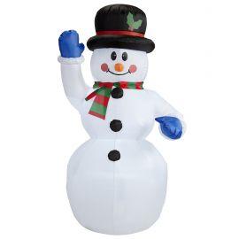 Muñeco nieve hinchable luz 150
