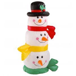Cabeza muñeco de nieve hinchable luz 122