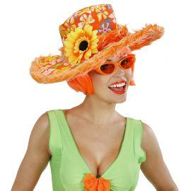 Sombrero ibiza girasol naranja