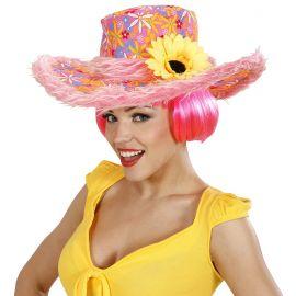Sombrero ibiza girasol rosa