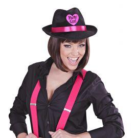 Sombrero fedora party terciopelo negro