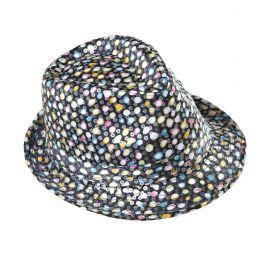 Sombrero fedora con lunares lentejuelas