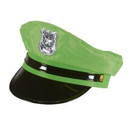 Sombrero policia verde neon