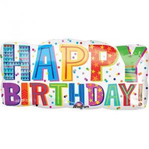 Globo helio happy birthday