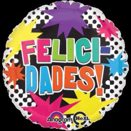 Globo helio felicidades pintadas