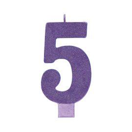Vela gigante purpurina brillo n5