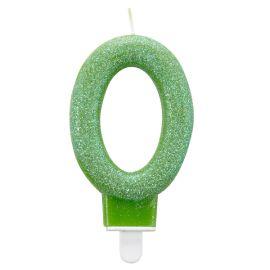 Vela glitter n 0 verde