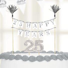 Vela espumosos aniversario plata 25