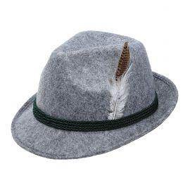 Sombrero tiroles gris cinta negra