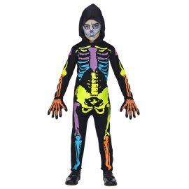 Disfraz esqueleto colores inf