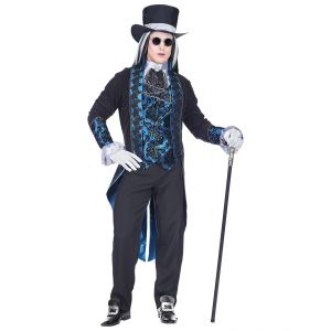 Disfraz vampiro victoriano azul