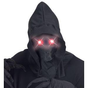 Capucha con ojos luz roja
