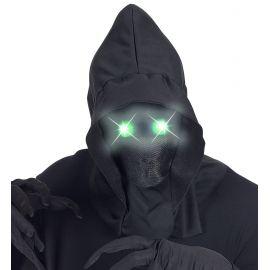 Mascara capucha ojos luz verde