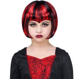 Peluc halloween roja negra inf