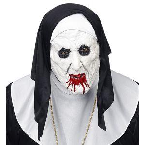 Mascara monja horror con tocado