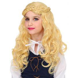 Peluca niña medieval