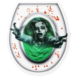 Tapa wc zombie verde