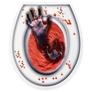 Tapa wc zombie roja
