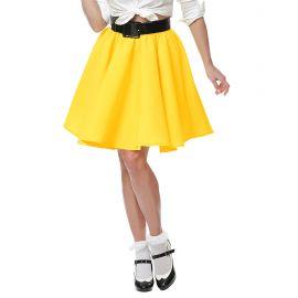 Falda rock and roll amarilla