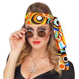 Banda hippie circulos naranjas
