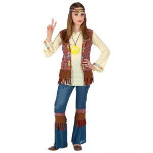 Disfraz hippie niña vaquera