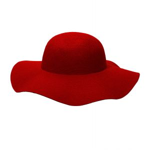 Sombrero mujer rojo personalizable
