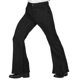 Pantalón hombre años 70 negro