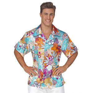 Camisa hawaiano raso