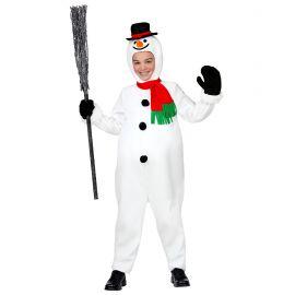 Disfraz muñeco nieve infantil