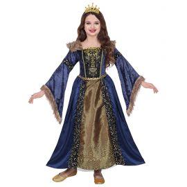Disfraz princesa medieval azul