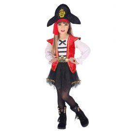 Disfraz pirata niña capitán