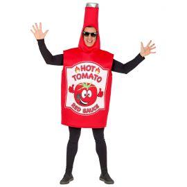 Disfraz bote de ketchup
