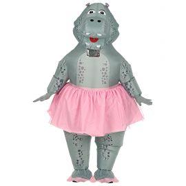 Disfraz hipopotamo bailarina hinchable