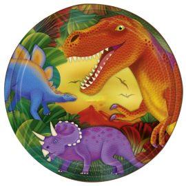 Platos dinosaurios naranjas 22.8 cm