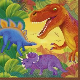 Servilletas dinosaurio naranja