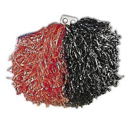 Pom pom rojo y negro bicolor