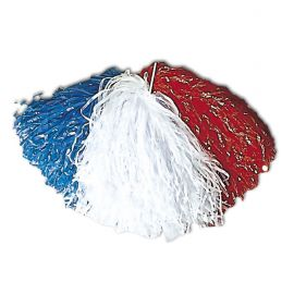 Pom pom tricolor azul blanco y rojo