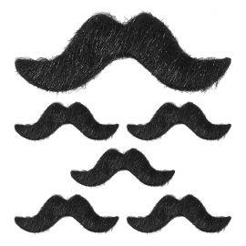 Set 6 bigotes negros