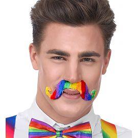Bigote arcoiris multicolor