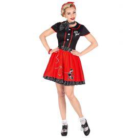 Disfraz pin up rojo y negro