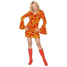 Disfraz chica naranja años 70