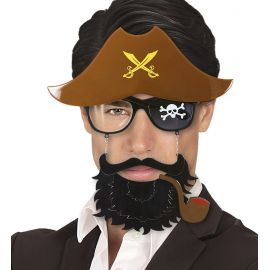 Gafas capitan pirata con barba