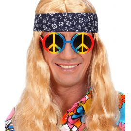 Gafas paz y amor arcoiris