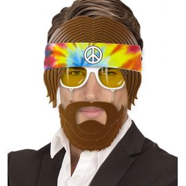 Gafas hippies con barba
