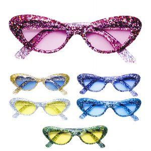 Gafas con purpurina picos