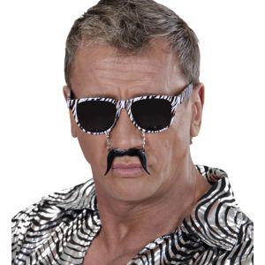 Gafas cebra con bigote