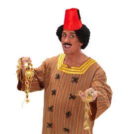 Sombrero turco fez rojo lujo