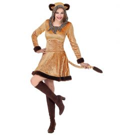 Disfraz pantera marron vestido