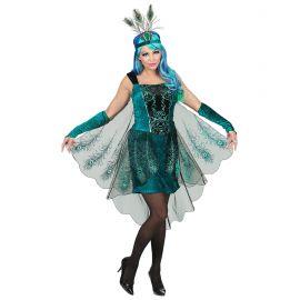 Disfraz pavo real vestido